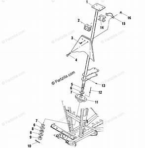 Polaris Atv 2000 Oem Parts Diagram For Steering Post