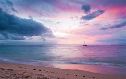 Wallpapers Sunset Purple Desktop Blissful Paradise