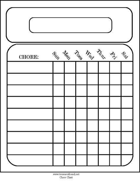 House Chart Template by Printables For The Home Chore Chart Em Printables