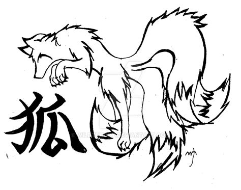 Kitsune Drawing At Getdrawings.com