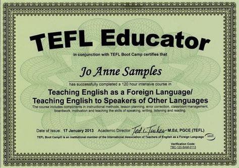 Tefl Certificate Template by Tefl Certification Course 120 Hours
