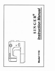 Singer 1116 User Manual