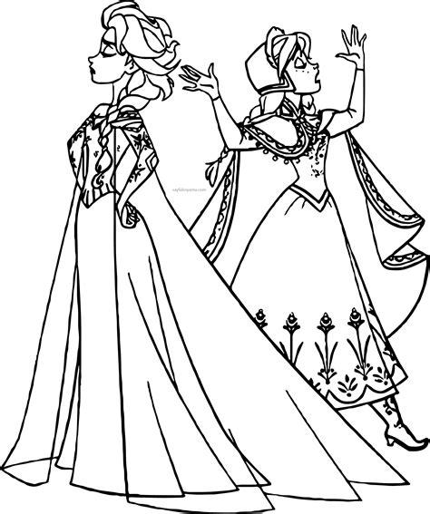 Pictures Of Elsa And Anna Anna Ve Elsa Tirip Boyama Sayfası Sayfa Boyama