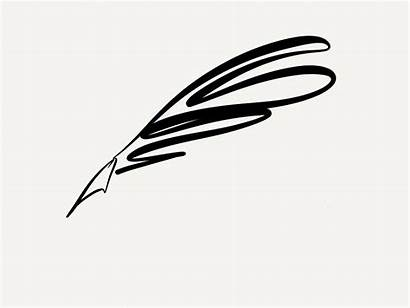 Quill Pen Clipart Clip Writing Feather Fancy