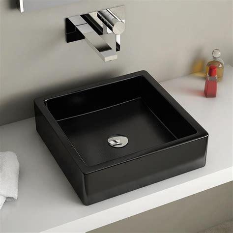 vasque noir a poser vasque 224 poser carr 233 e 40x40 cm c 233 ramique