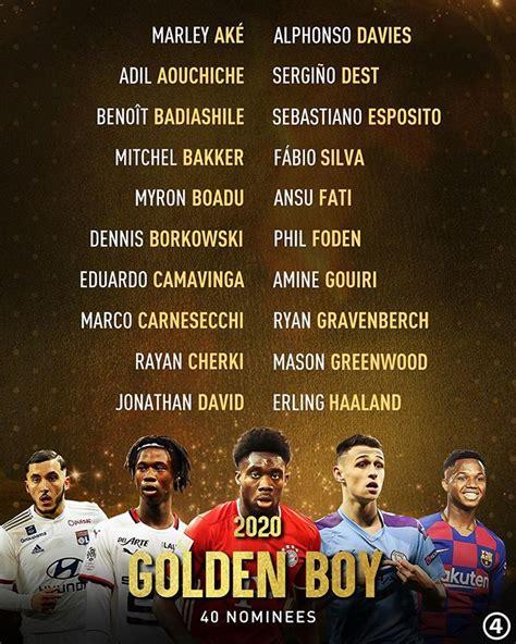40-man shortlist for Golden Boy Award released - 442 GH