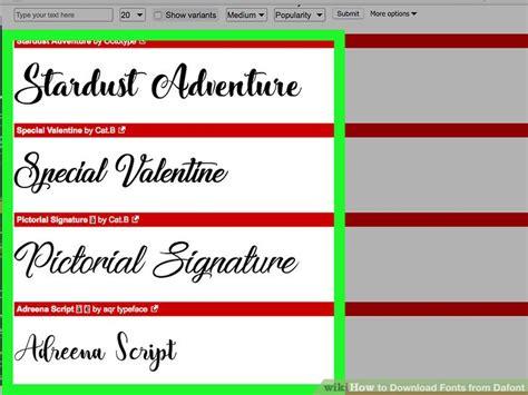 fonts  dafont  steps  pictures