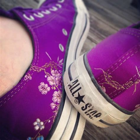 Purple Converse Shoes