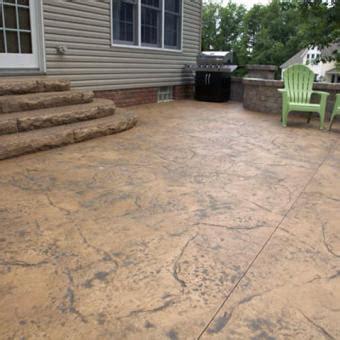 textured concrete patio sted concrete textured concrete allentown pa