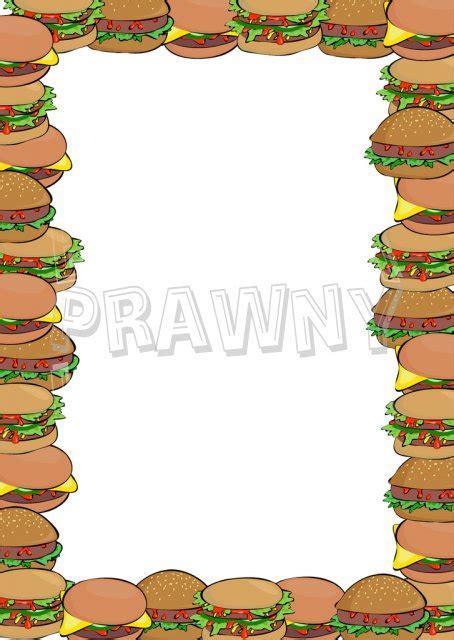 hamburger border clipart   cliparts