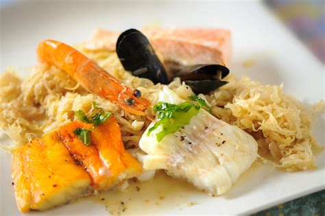 recettes de cuisine marmiton poisson recette choucroute de la mer