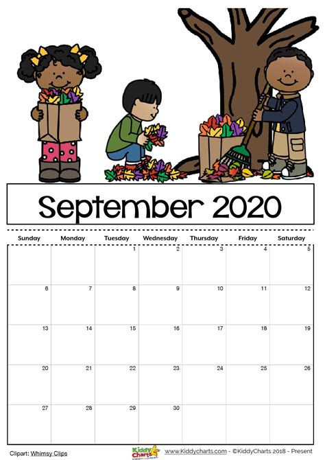 This themed printable calendar is free and ready to print and use. Free Printable 2020 calendar for kids, including an editable version