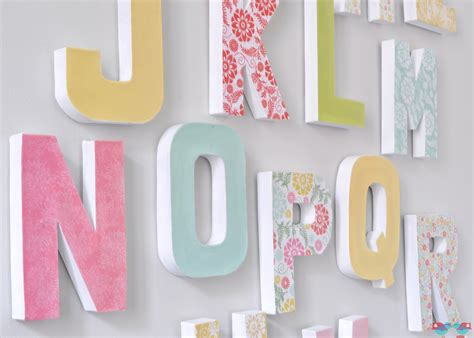 Letter O Home Decor : How To Make Your Own Letter Wall