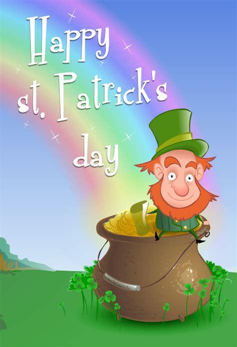 leprechaun wishing  st patricks day card