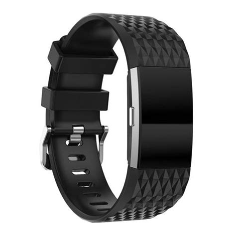 fitbit charge 2 silicone band black