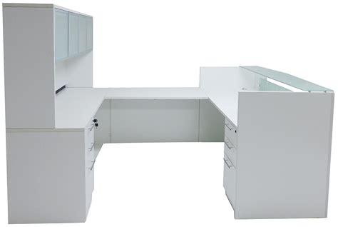 the complete privacy and security desk reference u shaped glass front reception desk w hutch