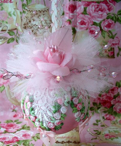 shabby chic ornaments pin by klynn m on shabby chic christmas ornaments pinterest