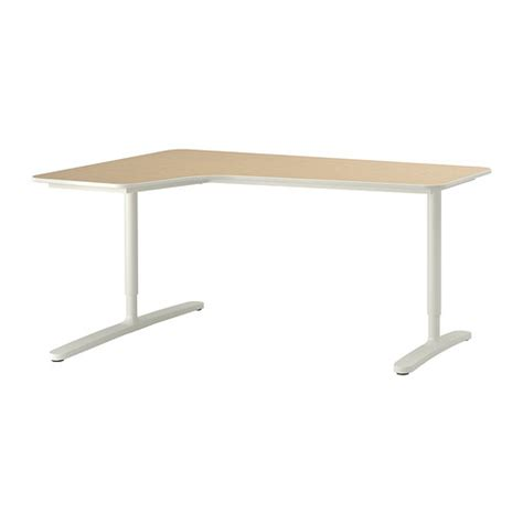 White Ikea Galant Corner Desk by Bekant Corner Desk Left Birch Veneer White Ikea