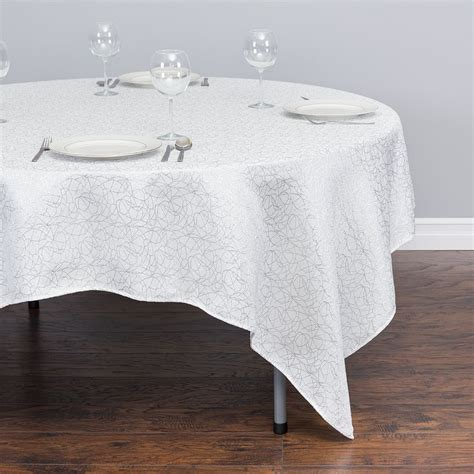 square cloth tablecloths 85 in square abstract silk embroidered polyester tablecloth
