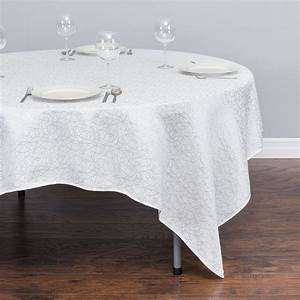85 in Square Abstract Silk Embroidered Polyester Tablecloth