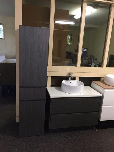 mm white oak timber wood grain wall hung bathroom