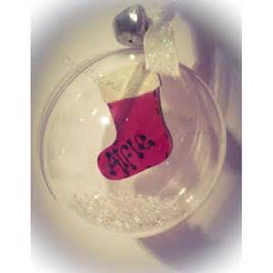 clear personalised christmas bauble