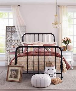 Walls, In, A, Pinkish, Taupe, Help, Unify, This, Bedroom, U0026, 39, S, Mixed, Metals, And, Layered, Patterns, Shown, Here