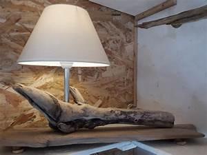 Luminaire En Bois Flotté : lampes bois flottes luminaires appliques horloges bougeoir decorations cadeaux ~ Teatrodelosmanantiales.com Idées de Décoration
