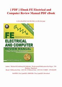 Fe Exam Review Electrical And Computer Engineering Pdf