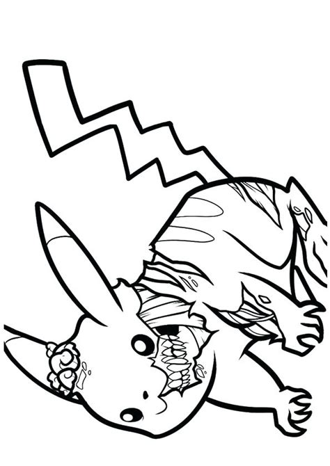 Scary Zombie Coloring Pages at GetColorings com Free
