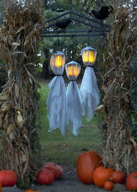decorating with paper lanterns outdoors 48 creepy outdoor halloween decoration ideas godfather style