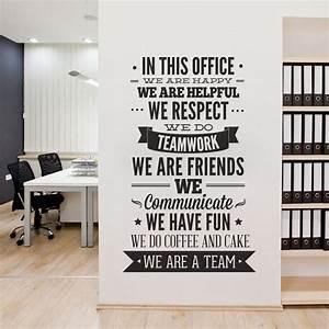 tipografia de decoracion de oficina en esta oficina With office wall art