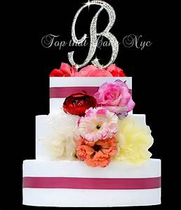 large monogram letter b or a monogram cake topper in With letter b cake topper