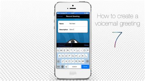 iphone default voicemail greeting how to make a voicemail greeting on iphone