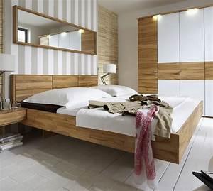 Modernes Bett 180x200 : massivholzbett schwebend aus kernbuche rosso ~ Watch28wear.com Haus und Dekorationen