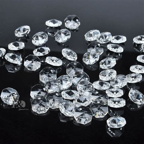 bulk chandelier crystals sparkly 14mm faceted octagon glass