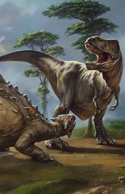ankylosaurus tyrannosaurus  art  eldar zakirov