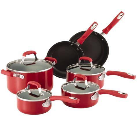 guy fieri nonstick aluminum pc cookware set red  overstockcom shopping great