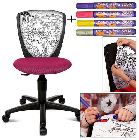 sous cheval bureau chaise de bureau à colorier decorer sa maison fr