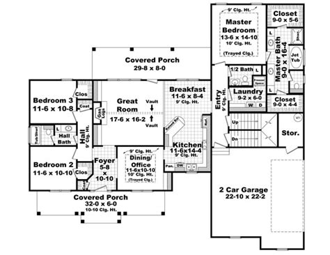 country house plan   bedrooms   baths plan