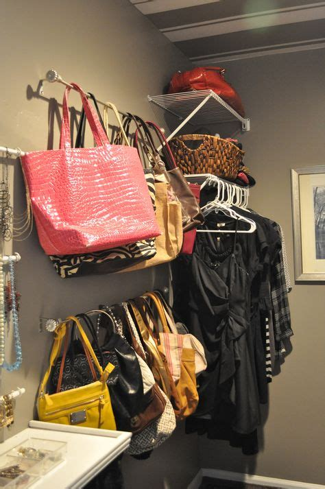 25 changing ways to organize your purses closetful