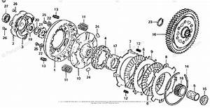 Honda Motorcycle 1976 Oem Parts Diagram For Clutch