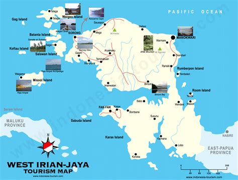 west irian jaya map peta irian jaya barat west papua map