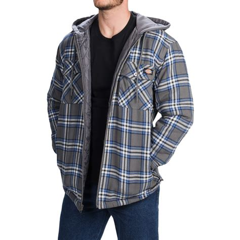 quilted shirt mens dickies quilted plaid shirt jacket for and big
