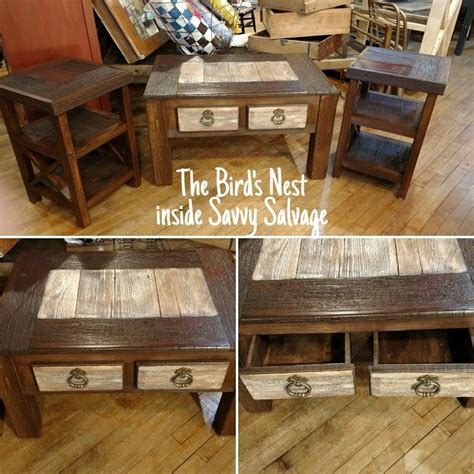 I'm trying to find the end table to match. Barn wood coffee and end tables #thebirdsnestupdos #savvysalvage #pickpaintprofit # ...