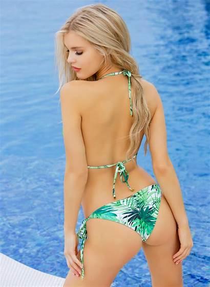 Bikini Triangle Tropical Swimwear Swimsuit Lady Lux