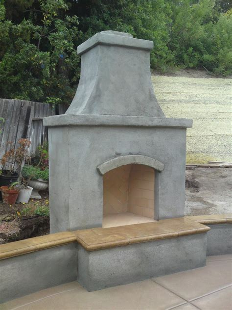 outdoor stucco fireplace another outdoor fireplace masonry picture post contractor talk