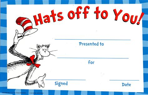 Cat In The Hat Hats Off To You! Classroom Awards