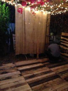 romantic patio  pallet floor deck  pallets