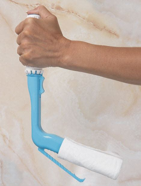 wipe toilet aid  angled clamp